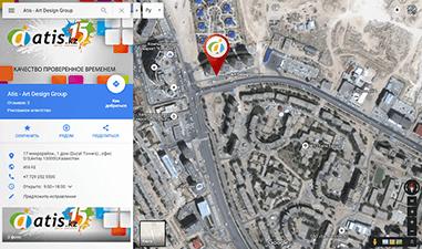 АТИС на картах Яндекс и Google